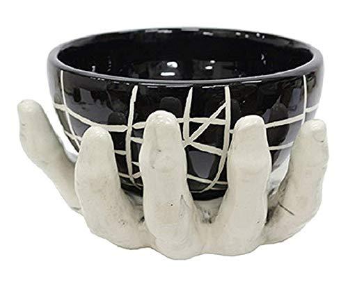 Skeleton Hand with Black Bowl Halloween Decor