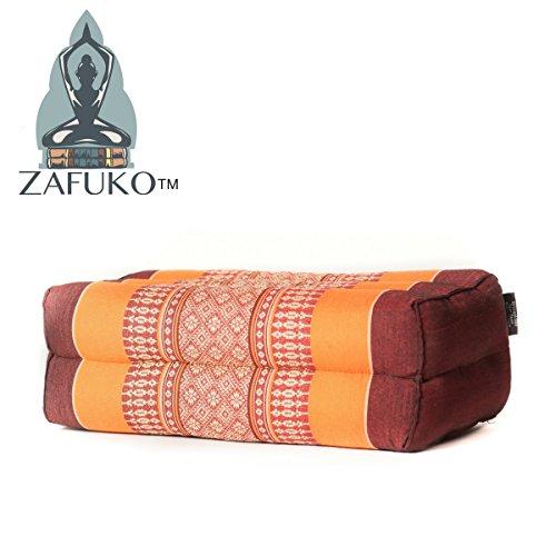 Zafuko Yoga, Meditation, Kundalini and Pilates Cushion (Zafu) Block, Bolster, Floor Pillow, Prop 100% Organic Kapok Fiber Filling - Small Block
