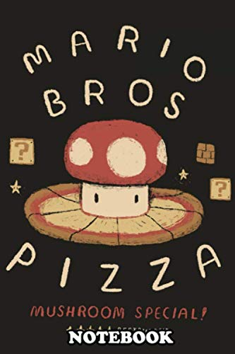 "Notebook: Mushroom Pizza , Journal for Writing, College Ruled Size 6"" x 9"", 110 Pages"
