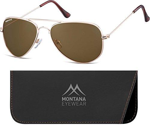 Lenses Mixte Montana Multicolore Soleil Lunettes Brown Gold de qq1ptw0