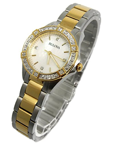 Bulova Two Tone Stainless Steel Ladies Watch 98R236