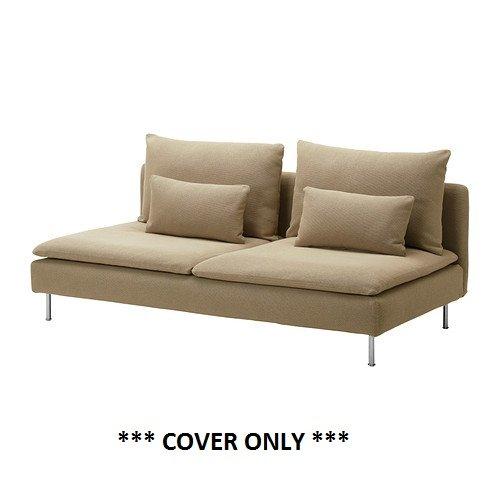 IKEA SODERHAMN - Slipcover for Sofa Section Replosa Beige (cover only)