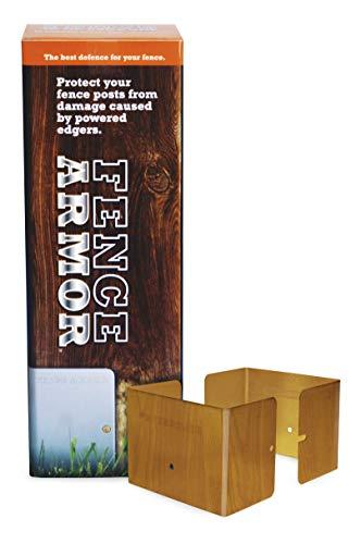Fence Armor Galvanized Steel Post Protectors | 3 Pairs (6pcs) of Redwood  Grain 3 5