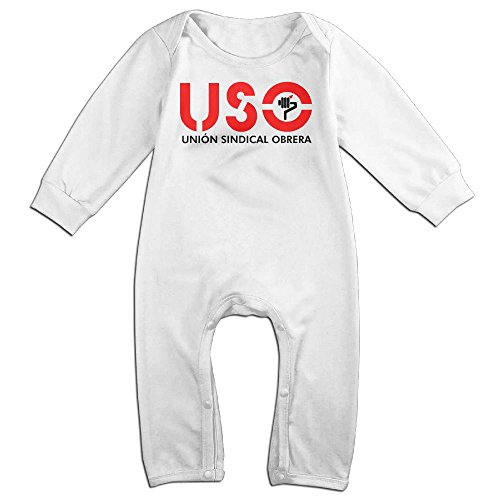 Uso Girl Costume (USO Boy & Girl Long Sleeve Climbing Clothes Romper Jumpsuit Size 18 Months White Funny)