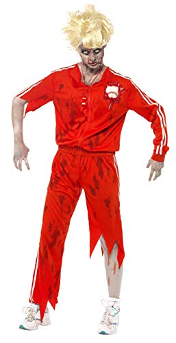 Scary Teacher Costumes Svg - Smiffy's Zombie Sports Teacher Costume, Red/White,
