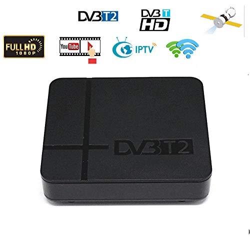 GoDeal DVB-T2 K2 HD Digital TV Terrestrial Receiver Support YouTube FTA H.264 MPEG-2/4 PVR TV Tuner Full HD 1080P Set Top Box US Plug