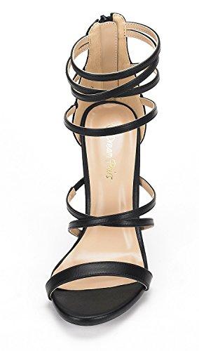 Pump Heel Womens High Show Dress Black PAIRS Pu Sandals DREAM qFY7wvxBWn