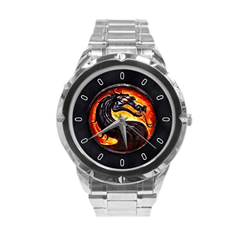 Mortal Kombat Logo Custom Unique Fashion Personality Stainless Steel Men's Watch (Women Of Mortal Kombat)