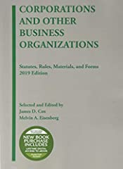 Receive complimentary lifetime digital access to the eBook with new print purchase.This compilation contains statutes, rules, materials, and forms affecting conventional business corporations, benefit corporations, flexible purpose corporatio...