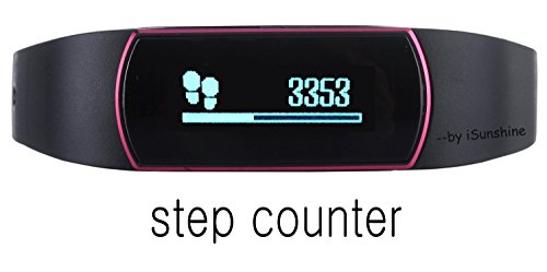 Step Counter Watch Fitness Tracker Waterproof Step Tracker Watch Fit Watch, Compatible with IOS7.0+ iPhone and 4.3+ Android Phone