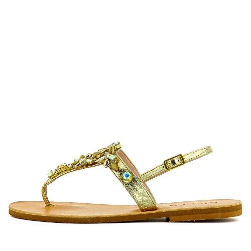 Piel Para Vestir De Shoes Mujer Sandalias Dorado Greta Evita wFqzRw