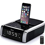 Best Iphone Alarm Clock Docks - DPNAO iphone Lightning Docking Station with Speaker Clock Review