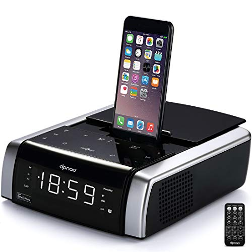 dpnao iPhone Docking Station Alarm Clock Radio Bluetooth Wir