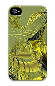Iphone 4 4s 3D PC Hard Shell Case Golden Web by Sallylotus by runtopwell