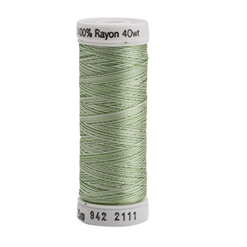 (Sulky 942-2111 Rayon Thread for Sewing, 250-Yard, Vari Grass Green)