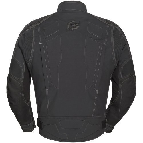 Fieldsheer Supersport Men's Textile Street Bike Racing Motorcycle Jacket - Black / Large by Fieldsheer