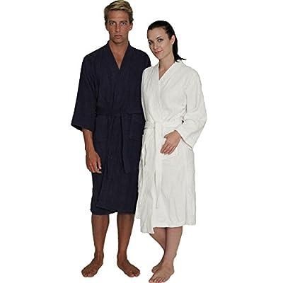 NDK New York Women's and Men's Terry Cloth Kimono Bath Robe Unisex 100% Cotton