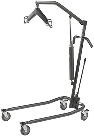 Drive Medical Hydraulic Patient Lift | Six Point Cradle, 5-Inch Casters | Silver Vein 41vuHDWKngL