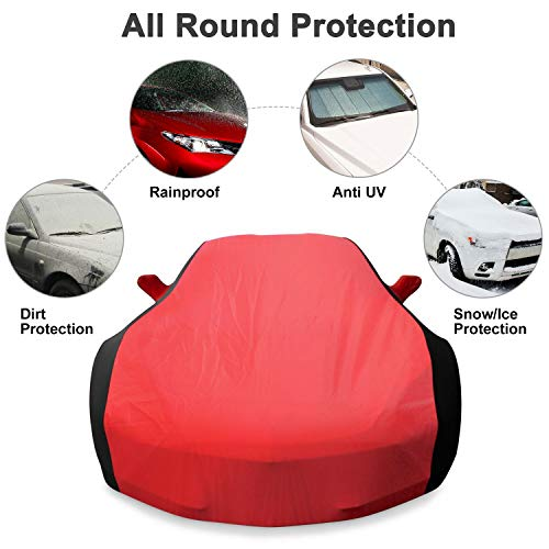 Red /& Black Combo KAKIT 2014-2019 C7 Stingray Waterproof Car Cover Custom Fit C7 Cover No Faded UV Resistant for Chevy Corvette Stingray Z51 Z06 Outdoor//Indoor