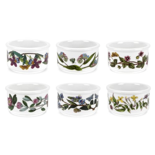 Portmeirion Botanic Garden Ramekins 5 Oz., Stackable, Set Of 6 Assorted