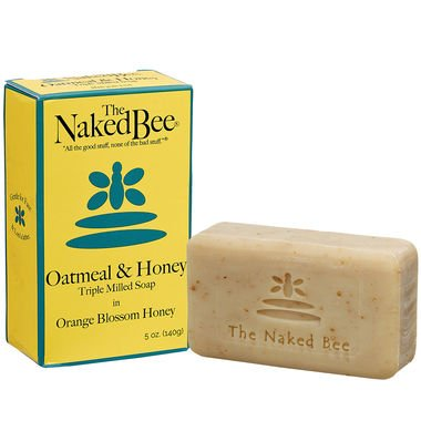 The Naked Bee Oatmeal & Honey Triple Milled Soap, 5 Ounce, Orange Blossom (Hand Soap Orange Lotion)