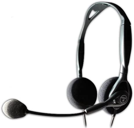 Andrea Communications C1-1023200-1 Model NC-125 Noise Canceling Stereo Headset With Dual 3.5mm Plugs