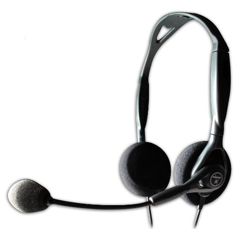 Andrea Communications C1-1023200-1 Model NC-125 Noise Canceling Stereo Headset With Dual 3.5mm Plugs ()