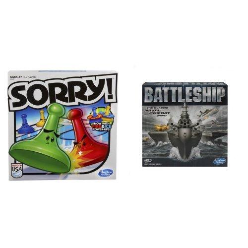 Hasbro Sorry 2013 Edition Game and Battleship Game Bundle