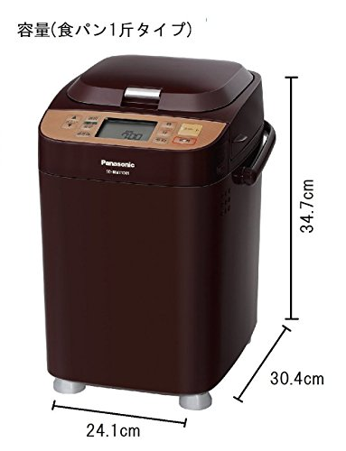Panasonic home bakery 1 loaf type Brown SD-BMT1001-T– Japan Import-No Warranty