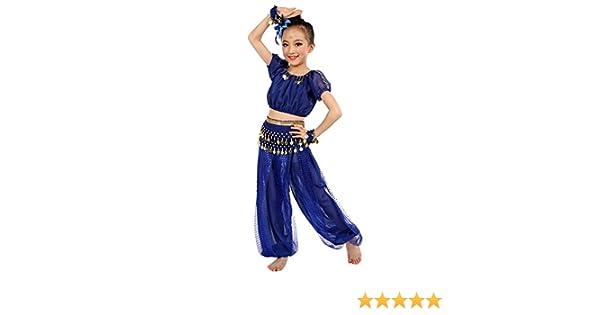 Xmiral 2Pcs Cojuntos Traje para Danza Vientre Niñas Oriental Belly ...