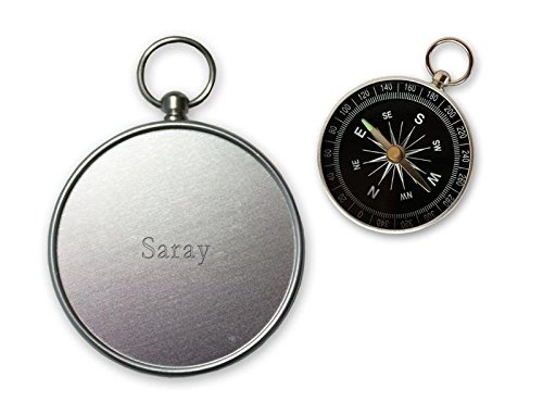 Pequeña brújula con grabado nombre de Saray (nombre de pila/apellido/apodo) SHOPZEUS
