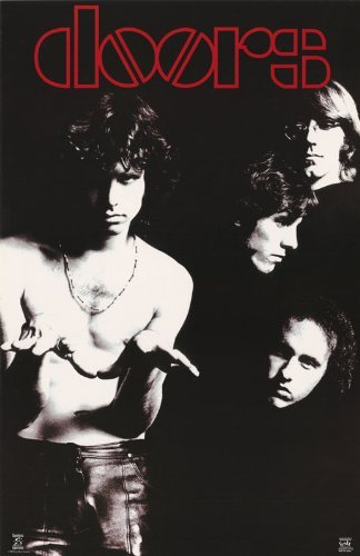 The Doors Poster Band Shot Black And White Jim Morisson