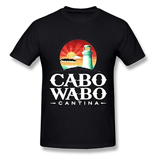Quliuwuda Connor Men Cabo Wabo Leisure Jogging Black T-Shirt XXL Short Sleeve