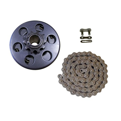 Mini Bike Clutch, 3/4 Bore 40/41/420 Chain Clutch Centrifugal for Go Kart Mini-Bike (Centrifugal Clutch with Chain) ()