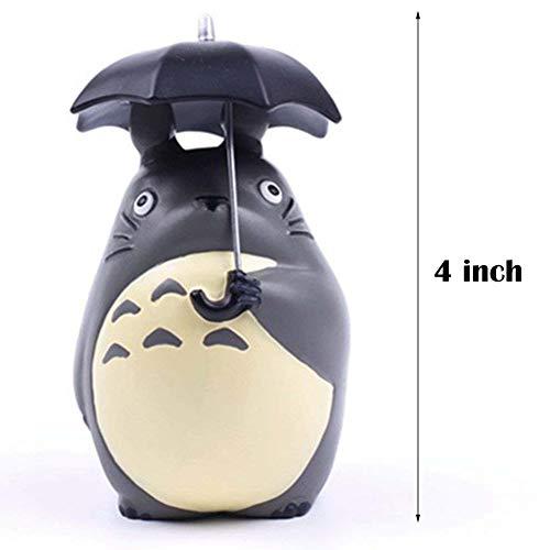 YOFIT totoro figurines, Totoro with Umbrella Statue 4inch Totoro Figure Decoration