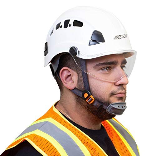 JORESTECH Sliding Retractable Integral Visor Shield for Helmet Mounted Eye Protection PPE by JORESTECH  (Image #6)