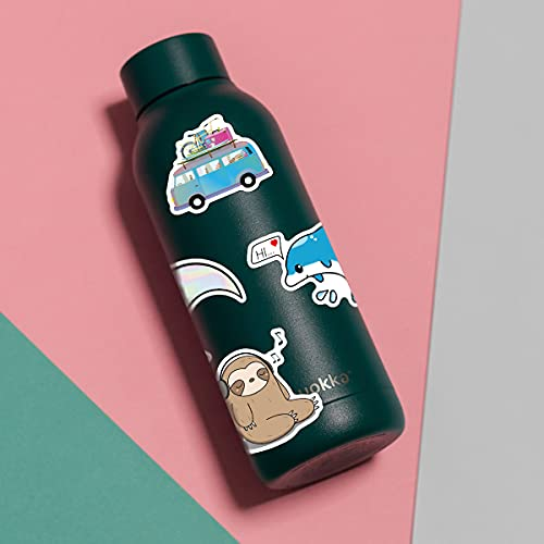 110 PCS Cute Stickers for Water Bottle Hydro Flask, Aesthetic Vsco Waterproof Stickers for Kids Girls Boys Teens, Laptop Skateboard Computer Stickers Pack, Cool Vinyl Decal Stickers