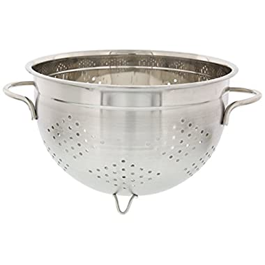 Stainless Steel Colander - French Designed Kitchen Stainless Steel Strainer, Colander & Strainer Basket : 7 x 11 in