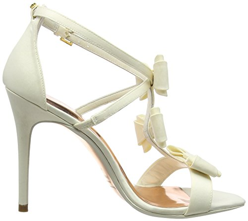 toe white Women's cream Appolini Off Heels Baker Ted Open xIZUwq