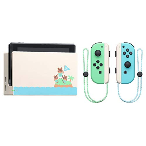 """Newest Nintendo Switch 32GB Console, Animal Crossing New Horizons Edition, 6.2"""" Touchscreen 1280x720 LCD Display, 802.11AC WiFi, Bluetooth 4.1, Bundled with TSBEAU 19 in 1 Carrying Case Accessories"""