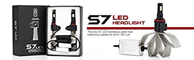 LED Headlight Bulbs 6000K Pure White Car LED 2PACK-S7