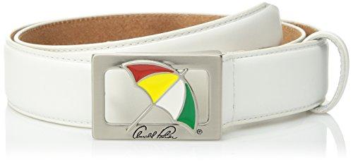 Arnold Palmer Men's Umbrella Buckle Golf Belt, White, 32