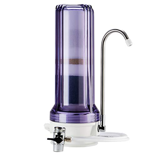 iSpring CT10 Countertop Multi Filtration Drinking Water Filter Dispenser - Clear