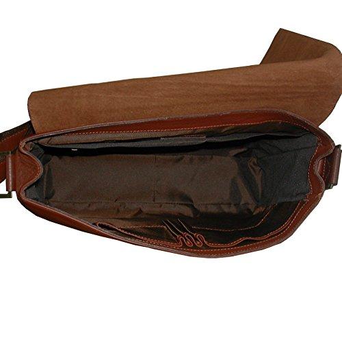 de en textura natural piel flor Bolso vacuno maletin y ligera suave bandolera fina cuero qSnw8Tt