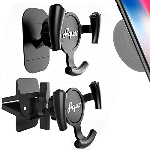 Alquar Car Phone Mount,Air Vent and Dashboard Sticker Holder, Automotive Vehicle Nevitation Holder, One Hand Easy Operation [2 Pack Dual Mode]