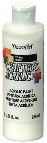 DecoArt DCA01-9 Crafters Acrylic, 8-Ounce, White