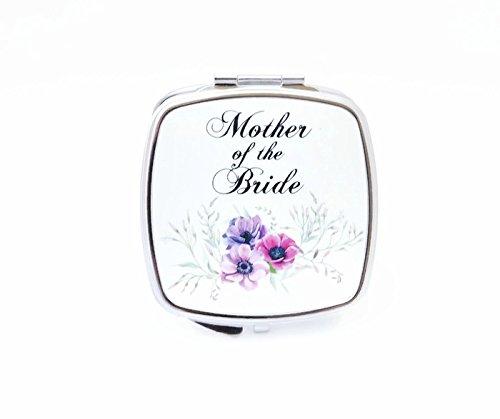 Mother of the Bride Compact Makeup Mirror - Wedding Pocket Mirror