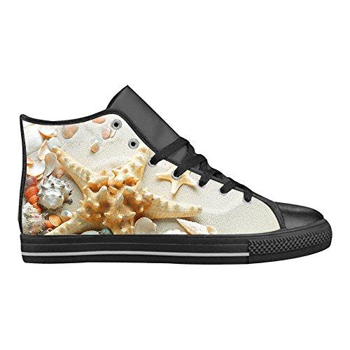 Top Scarpe Comoda Pesce Da Tela Sneaker Cheese Action Fresco Stile Pelle Design Importato Di High Stella In Custom Donna Aquila wqvvtTX