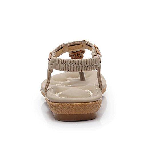 New black 05 Shoes Open Flat Bead hot String Loft Shoes Toe Summer Woman Female Tenis 6Oxwrn67qT