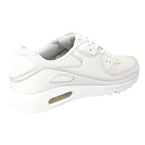 JT Sneaker Sportschuhe Fitness Freizeit LAUFTURN Halbschuhe GR. 36-41 Weiß